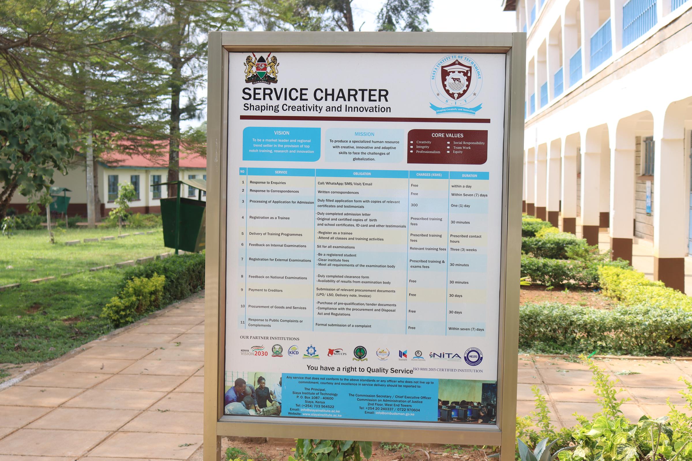SIT Service Charter