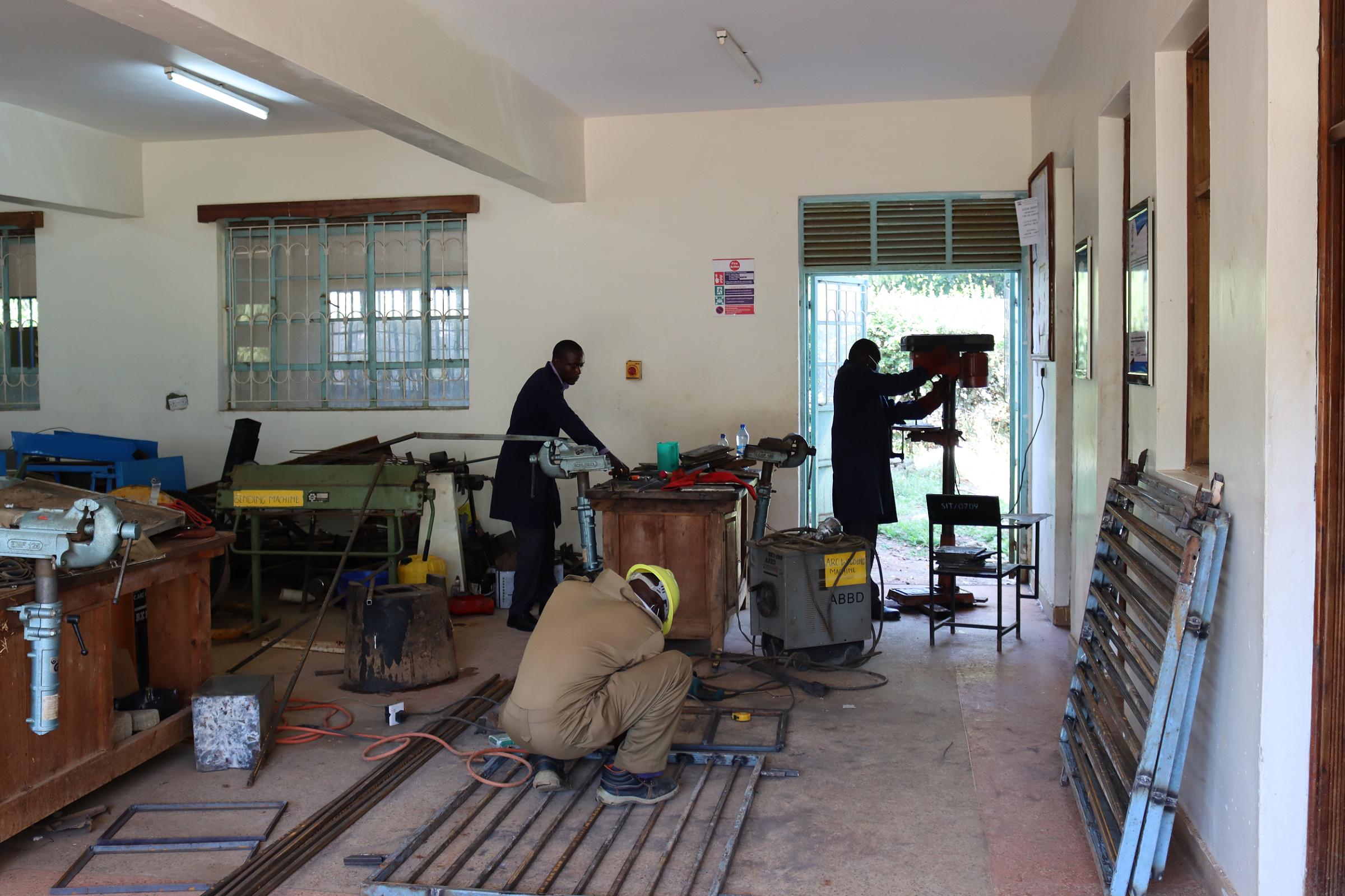 Technicians in a Workshop